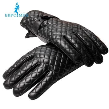Sell well Gloves men ,Genuine Leather,leather men gloves,mens black gloves,Warm lined,Leather gloves men, Free shipping