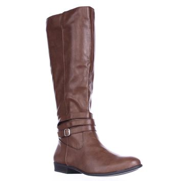 SC35 Fridaa Wide Calf Riding Boots, Barrel, 5.5 US