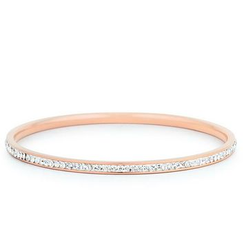 Katlynn Rose  Gold CZ Bangle Bracelet