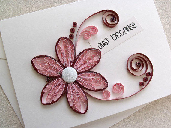 Handmade paper quilled all occasion or from sayitwithblooms on m4hsunfo