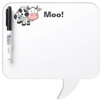 Cute Cartoon Cow Dry Erase Board & Pen