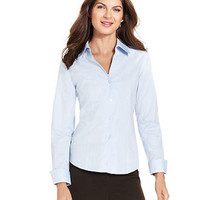 Jones New York Shirt, Easy Care Oxford - Womens Tops - Macy's
