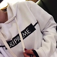 SUPREME Casual Fashion Hooded Top Sweater Pullover Hoodie