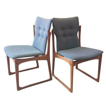Pre-owned Danish Modern Teak Dining Chairs by ArtFurn - S/4