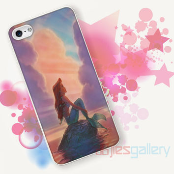Ariel The Little Mermaid Sunset for iPhone 4/4S, iPhone 5/5S, iPhone 5C, iPhone 6 Case - Samsung S3, Samsung S4, Samsung S5 Case