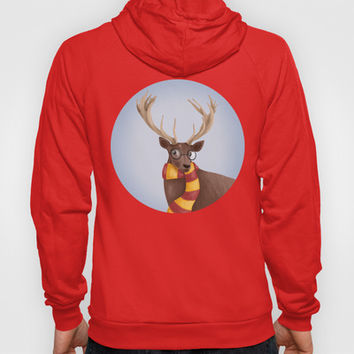 Harry Potter Stag Patronus EXPECTO PATRONUM ! Hogwarts Gryffindor Hoody by BaconFactory