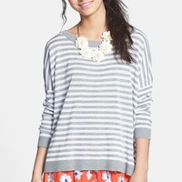 Absolutely Cotton Stripe High/Low Pullover (Juniors)