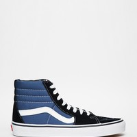 Vans Sk8-Hi Black and Blue High Top Trainers