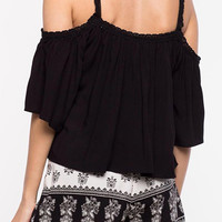 Cupshe After Forever Off the Shoulder Crop Top