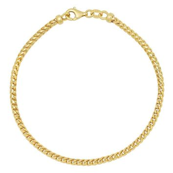 Franco Chain Bracelet 3.3MM- 14K Gold