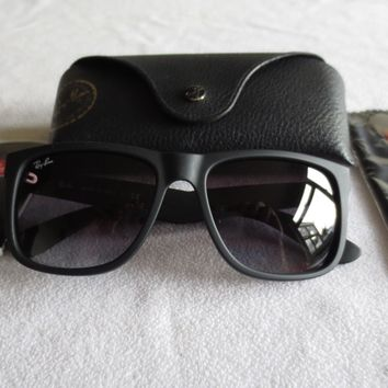 Ray Ban black frame Justin sunglasses. RB 4165 601/8G. With case.