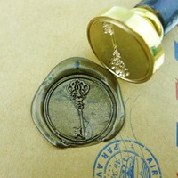 Royal family  Wax Seal Stamp/Sealing Wax Seal/ vintage key wedding Stamp, brass stamp WS082