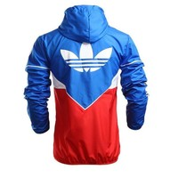 """Adidas"" Trending Women Men Loose Print Zipper Cardigan Jacket Coat Hoodie Sweatshirt I"