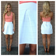Bandage Flare Skirt - WHITE