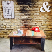 Find Industrial loft style furniture & Vintage Reclaimed Coffee Table