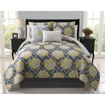 Naomi 5-piece Reversible Comforter Set