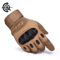CQB Outdoor Tactical Gloves Full Finger Sports Hiking Riding Cycling Military Men's Gloves Armor Protection Shell Gloves ST0055