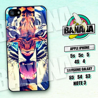 Tiger, Cross, Fashion, iPhone 5 case, iPhone 5C Case, iPhone 5S case, Phone case, iPhone 4 Case, iPhone 4S Case, Phone Skin, tg01