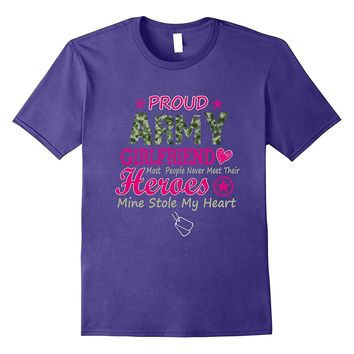 Proud Army Girlfriend t-shirt- army Girlfriend shirt