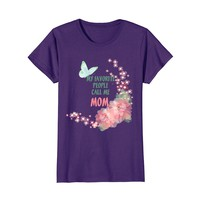 Favorite People Call Me Mom Floral t-shirt