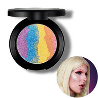 MLMSY 6 Colors Rainbow Eyeshadow Highlighter Makeup Palette Powder, Makeup Cosmetic Shimmer Eye Shadow Palette Blusher (Rainbow)