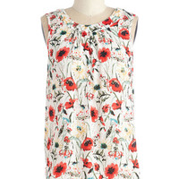 ModCloth Mid-length Sleeveless Plant Ahead Top