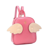 Fashion cute wings casual backpack