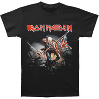 Iron Maiden Men's  The Trooper T-shirt Black