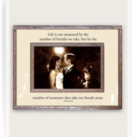 Life Is Not Measured By The Number Of Breaths We Take Copper & Glass Photo Frame