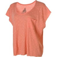Volcom Moclov Square Girls T-Shirt Coral Haze