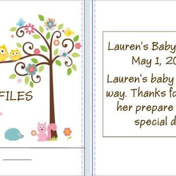 8 Happi Tree Owl Baby Shower and Birthday Party Nail File Favors