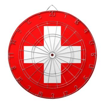 Dartboard with Flag of Switzerland