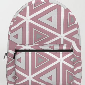 Bright White and Pink Triangle Pattern by Sheila Wenzel