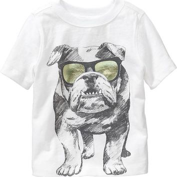 Old Navy Bulldog Graphic Tees For Baby