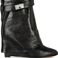 Givenchy - Folded ankle boots in black eel