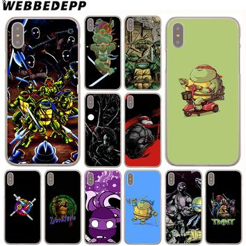 WEBBEDEPP Teenage Mutant Ninja Turtles Case for Apple iPhone 4 4S 5C 5S SE 6 6S 7 8 Plus 10 X Xr Xs Max 6Plus 7Plus 8Plus