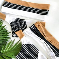 Tanya Striped Two Piece Swimsuit Bikini