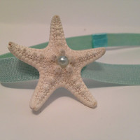 Mint Starfish Headband by byElizabethSwan on Etsy