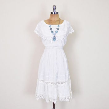 Gauze dresses white long