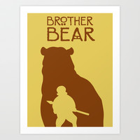 Brother Bear Art Print by Citron Vert