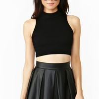 Full Circle Crop Turtleneck