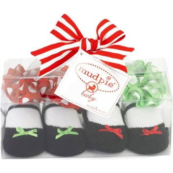 Mud Pie-Holiday Mary Jane Sock Set