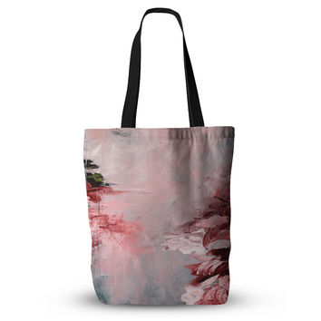 "Ebi Emporium ""Winter Dreamland 5"" Red Gray Everything Tote Bag"
