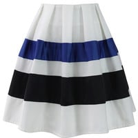 Ribbon Paneled Skater Skirt Multi