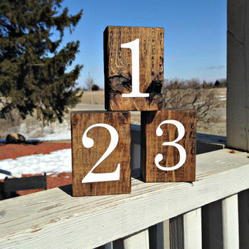 Wedding Table Numbers - Wood Table Number - Table Numbers - Rustic Wedding - Wooden Table Numbers - Wedding Decor - Double-sided - Set of 25
