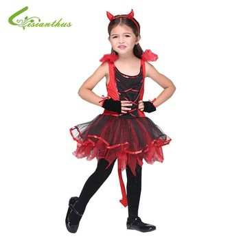 Halloween For Girls Children Latin Dance Costumes Dress + Headwear + Glove Party Dresses Christmas Costume Fancy Clothing Set