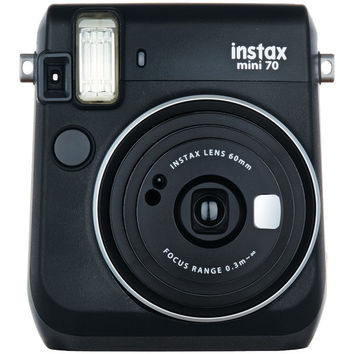 FUJIFILM 16513906 Instax(R) Mini 70 Instant Camera (Midnight Black)