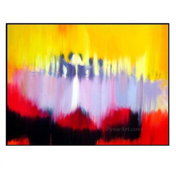 Abstract Ballet Dancers -  Ballerina Print - Colorful canvas art by Yuri Pysar