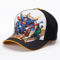 Justice League Baseball Hat - Boys, Size: One Size (Black)