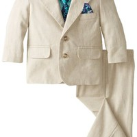 Nautica Baby Boys' Herringbone Suit Set with Tie